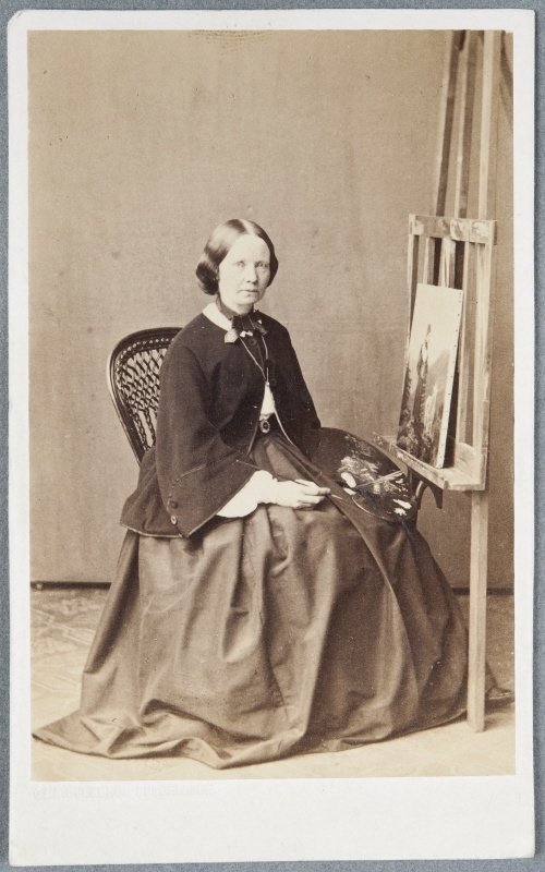 Amalia Lindegren (1814-1891), artist, painter, Photographer: G. & A. Overbeck, Düsseldorf, Germany, Nationalmuseum, Sweden, CC BY-SA